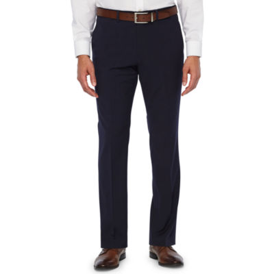 JF J.Ferrar 360 Stretch Navy Fine Stripe Slim Fit Suit Pants