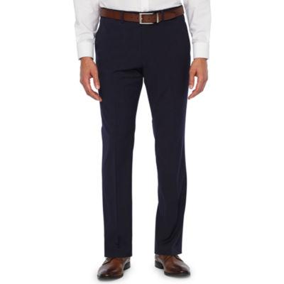 JF J.Ferrar 360 Stretch Navy Fine Stripe Slim Fit Suit Pants