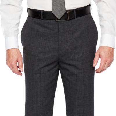 Claiborne Windowpane Stretch Classic Fit Suit Pants