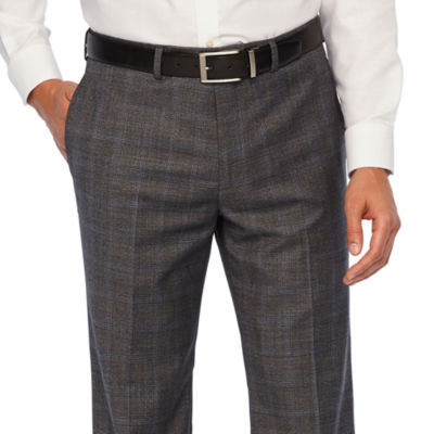 Collection by Michael Strahan  Gray Checked Slim Fit Stretch Suit Pants