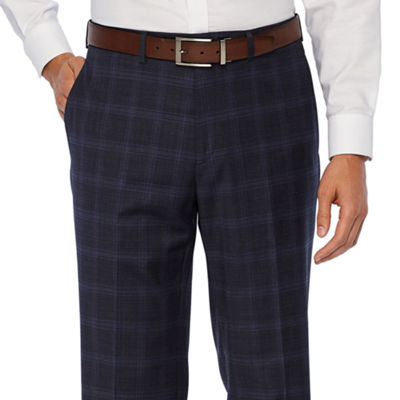 Collection by Michael Strahan  Blue Plaid Stretch Classic Fit Suit Pants