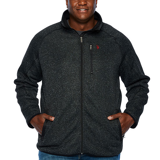 U.S. Polo Assn. Mens Y Neck Long Sleeve Sweatshirt Big and Tall