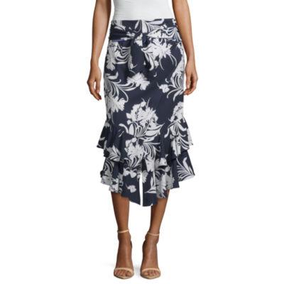 Worthington Womens Flared Skirt