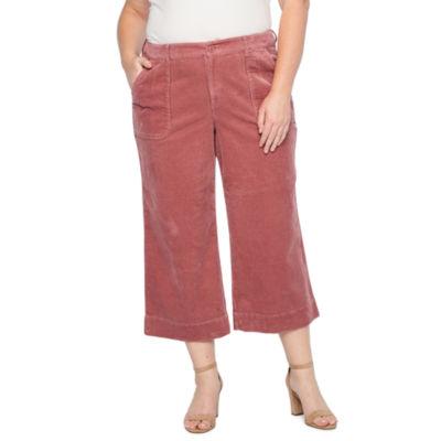 a.n.a Wide Leg Corduroy Cropped Pant - Plus
