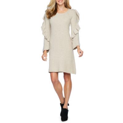 Vivi By Violet Weekend Sweater Dresses Long Sleeve Sheath Dress