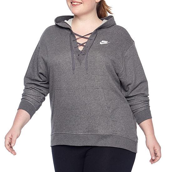 ed270b19f Nike® Womens Fleece Lace Up Hoodie – Plus - JCPenney