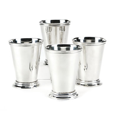 Two's Company Set Of 4 Mint Julep Cups In Gift Box