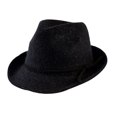 Women's Knit Fedora with Faux Suede Band