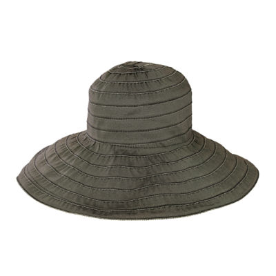 Women's Wide Ribbon Wired Sun Brim