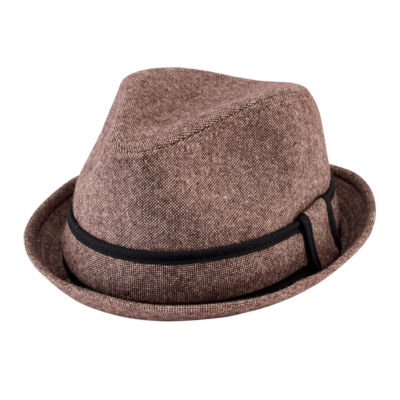 Tweed Fedora with Trim