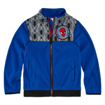 Outerwear Spiderman Fleece Jacket - Boys-Big Kid
