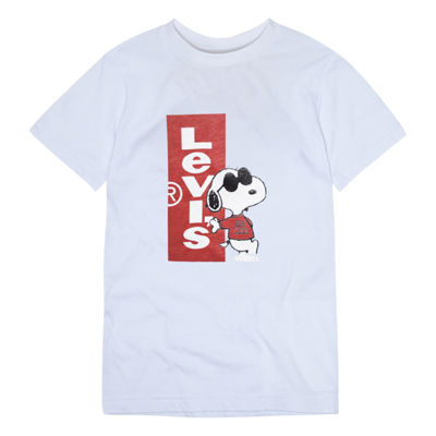 Levi's® ™ Short Sleeve Crew Neck Snoopy T-Shirt-Toddler Boys 2T-4T