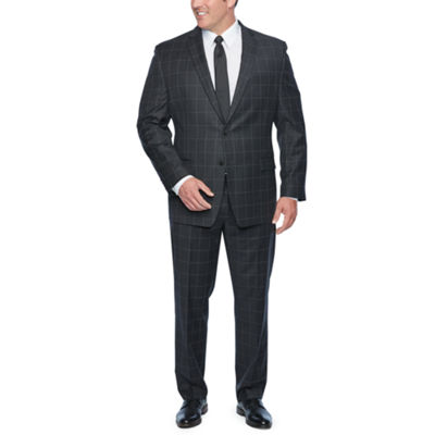 Collection by Michael Strahan Gray Windowpane Suit Separates - Big & Tall