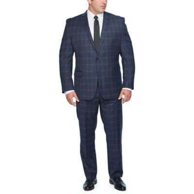 Collection by Michael Strahan Blue Plaid Stretch Suit Separates - Big & Tall