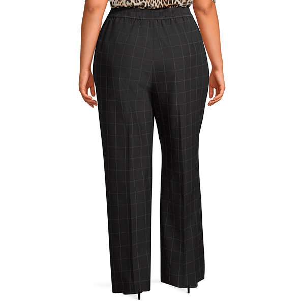 Worthington Tie Waist Wide Leg Trouser - Plus