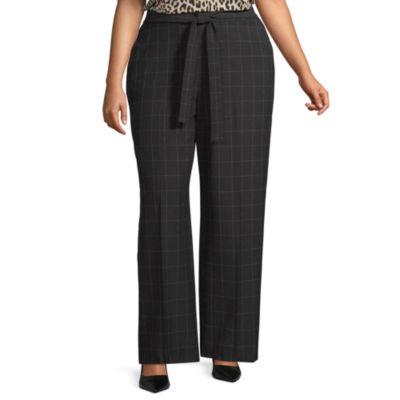 Worthington Tie Waist Wide Leg Trouser - Plus