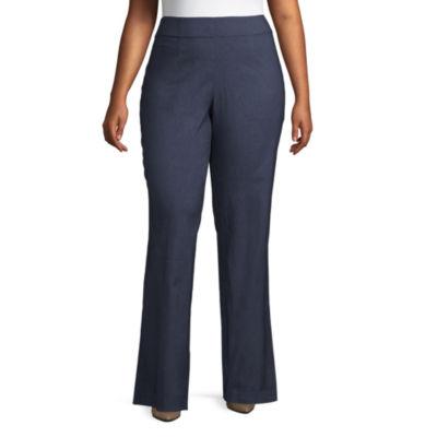 Worthington Pull-On Bootcut Trousers - Plus