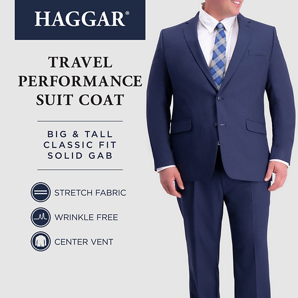 Haggar-Big and Tall Classic Fit Stretch Suit Jacket