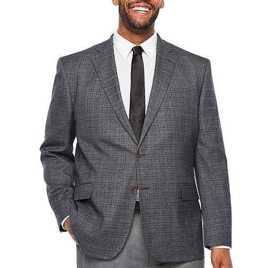 Stafford - Big and Tall Seasonal Plaid Mens Classic Fit Sport Coat