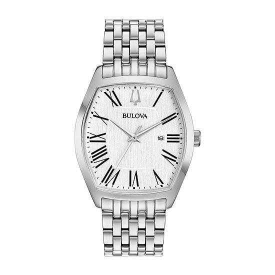 Bulova Ambassador Womens Silver Tone Stainless Steel Bracelet Watch-96m145