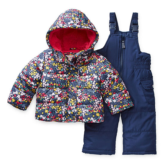Carter's Girls Heavyweight Floral Snow Suit-Baby