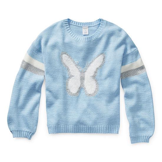 Arizona Girls Crew Neck Long Sleeve Pullover Sweater Little Kid / Big Kid