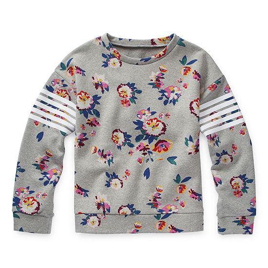 Arizona Girls Crew Neck Long Sleeve Sweatshirt Preschool / Big Kid