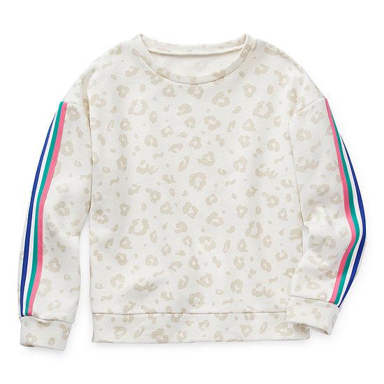 Arizona Little Kid / Big Kid Girls Crew Neck Long Sleeve Sweatshirt