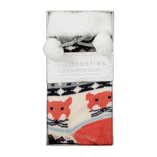 Totes Sherpa Lined 1 Pair Slipper Socks Womens