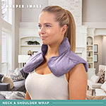 Sharper Image Hot & Cold Herbal Aromatherapy Neck & Shoulder Plush Wrap Pad