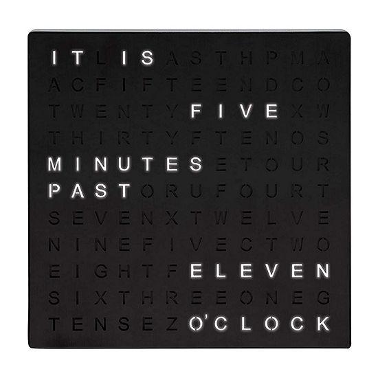Sharper Image Light-Up Electronic Word Clock