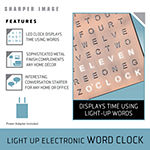Sharper Image Light-Up Electronic Word Clock