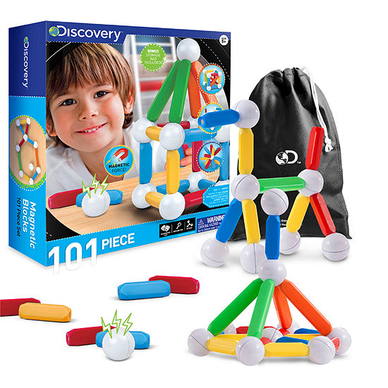 Discovery Kids Magnetic Blocks - 101 Piece Set