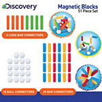 Discovery Kids Magnetic Blocks - 51 Piece Set