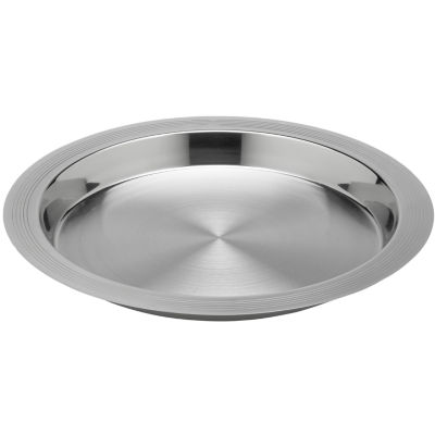 """Round 14"""" Stainless Steel Serving Tray"""