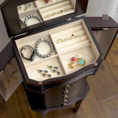Hives & Honey Meg  Espresso Jewelry Armoire