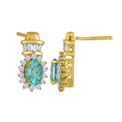 Blue Blue Topaz Sterling Silver Drop Earrings