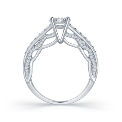 "Enchanted Disney Fine Jewelry 3/4 C.T. T.W. Diamond 14K White Gold ""Disney Princess"" Gown Outline Ring"
