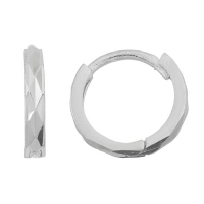 Sterling Silver 11.6mm Hoop Earrings