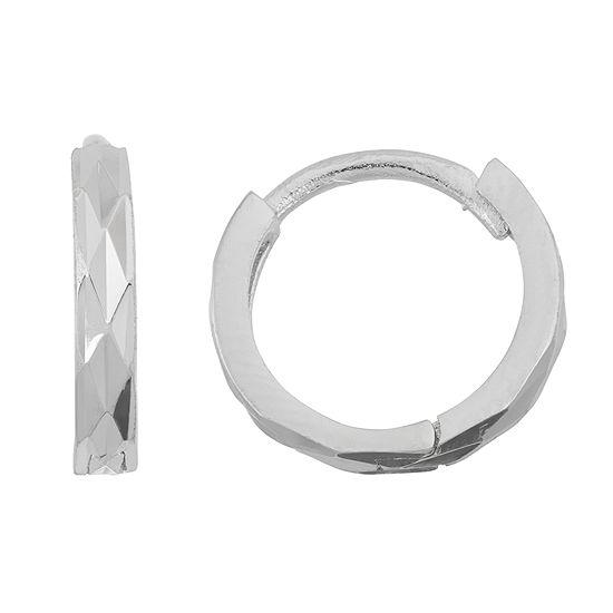 Sterling Silver 11.6mm Hoop Earrings