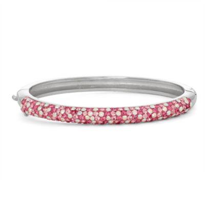 Children's Crystal Brass Bangle Bracelet