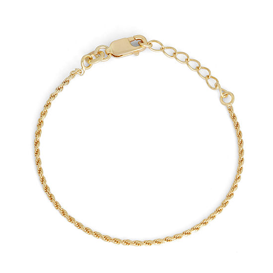 Children's 14K Yellow Gold Over Silver Rope Chain Bracelet