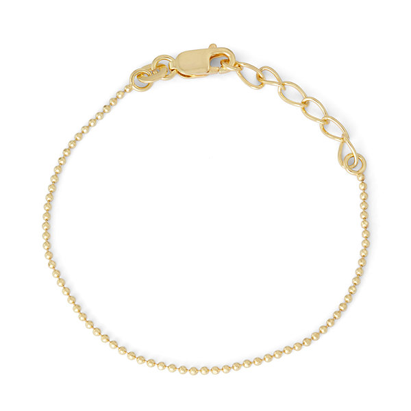 Children's 14K Yellow Gold Over Silver Bead Chain Bracelet