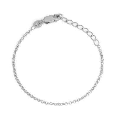 Children's Sterling Silver 6 Inch Rolo Chain Bracelet