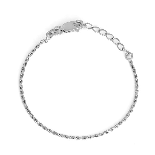 Children's Sterling Silver 6 Inch Rope Chain Bracelet