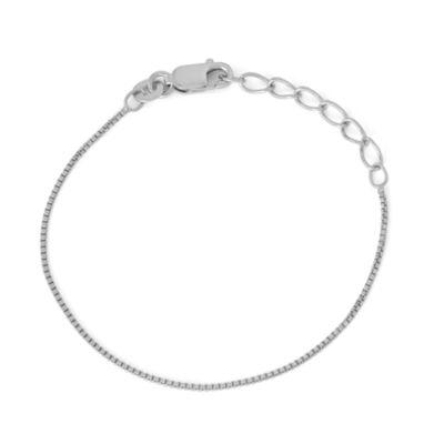 Children's Sterling Silver 6 Inch Box Chain Bracelet