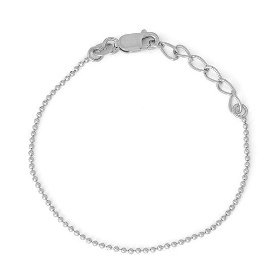 Children's Sterling Silver 6 Inch Bead Chain Bracelet