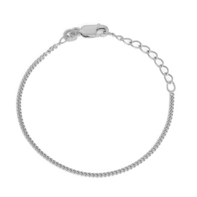 Children's Sterling Silver 6  Inch Curb Chain Bracelet