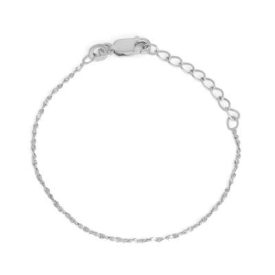 Sterling Silver 6 Inch Solid Link Bracelet