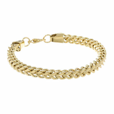 Stainless Steel 10 Inch Solid Wheat Chain Bracelet